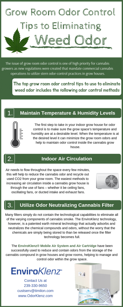 Grow Room Odor Control Tips to Eliminating Weed Odor
